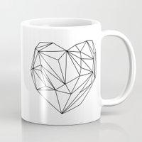Heart Graphic (black on white) Mug