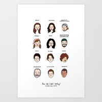 Gilmore Girls Mood Chart Art Print