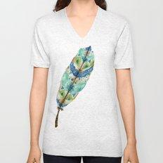 Seaside Feather Unisex V-Neck