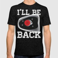 I'll be back Mens Fitted Tee Tri-Black SMALL
