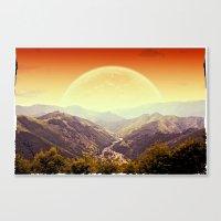 Highland Sunset  Canvas Print