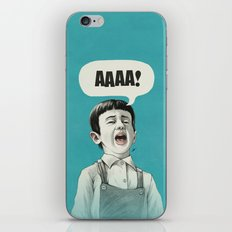 AAAA! (Blue) iPhone & iPod Skin