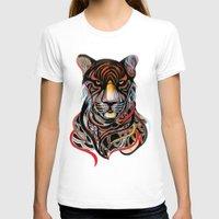 tiger T-shirts featuring Tiger by Felicia Atanasiu