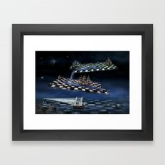 Turbulent journey time  Framed Art Print