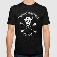 Viking Rafting Iceland Mens Fitted Tee Tri-Black SMALL