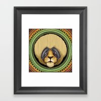 Ital Lion Framed Art Print