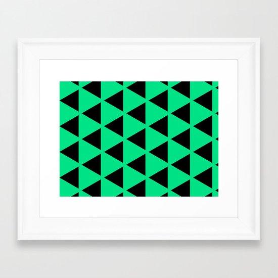 Sleyer Black on Green Pattern Framed Art Print