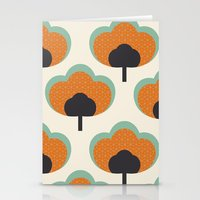 orange flowers Stationery Cards