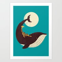 The Giraffe & The Whale Art Print