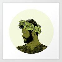 Green Crown Art Print