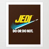 Brand Wars: Jedi - Blue … Art Print