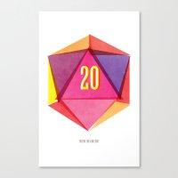Rolling D20's Like A Big Shot  Canvas Print
