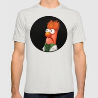 Beaker Mens Fitted Tee Silver SMALL