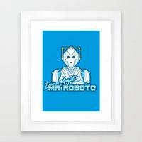 Domo Arigato Mr. Cyberman Framed Art Print