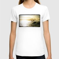 Surf Sunset Womens Fitted Tee White SMALL