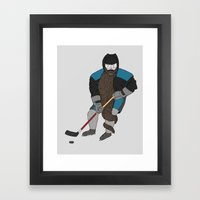 Playoff beard Framed Art Print