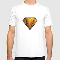 Bokah Drops Mens Fitted Tee White SMALL
