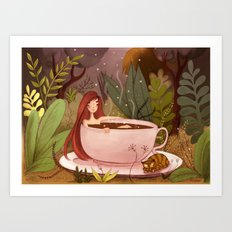 A cup of hot chocolate Art Print