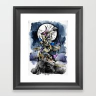 The Nightmare Before Chr… Framed Art Print