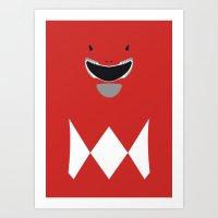 Power Rangers - Red Rang… Art Print