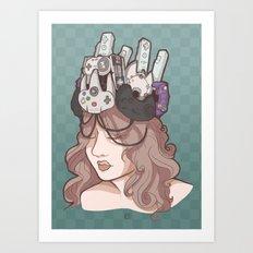 The Gamer Queen Art Print