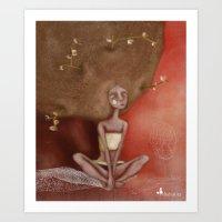 Tree Girl Art Print