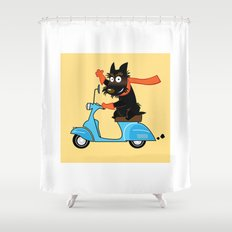 Scottie and Scooter Shower Curtain