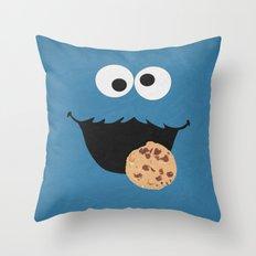 Cookie Monster - Minimal… Throw Pillow