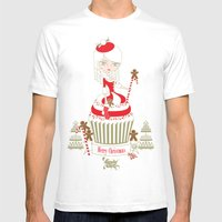 Merry Lady Christmas Cup… Mens Fitted Tee White SMALL