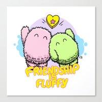Friendship is fluffy Canvas Print