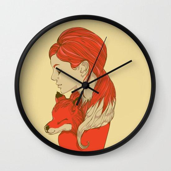 Lady Fox Wall Clock