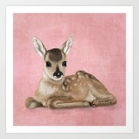 Portrait Of A Small Fawn… Art Print