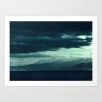 Coastal Mountain Sunrise Art Print