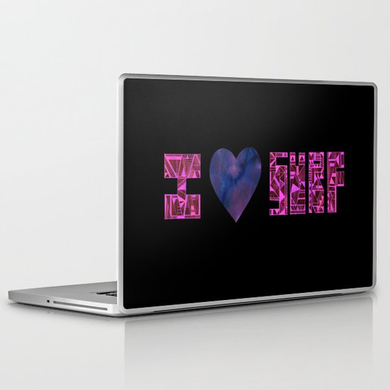 I HEART SURF Laptop & iPad Skin