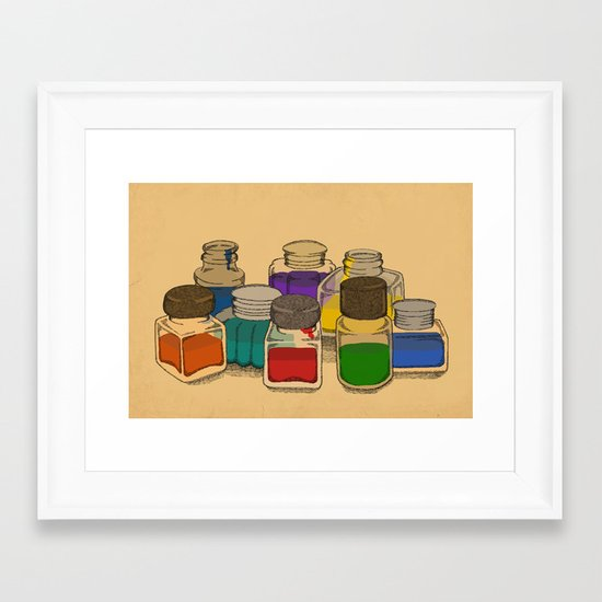 Ink Framed Art Print