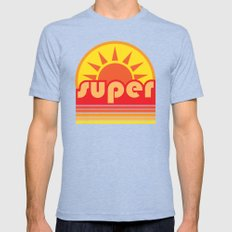 super duper Mens Fitted Tee Tri-Blue SMALL