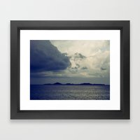 Clouds On The Water... Framed Art Print