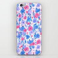 Flower Field Lilac Blue iPhone & iPod Skin