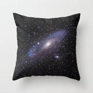 Throw Pillow featuring Galaxy Andromeda by Guido Montañés