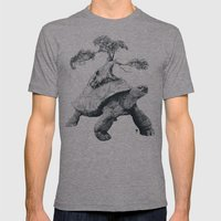 Tortoise Tree - Growth Mens Fitted Tee Athletic Grey SMALL