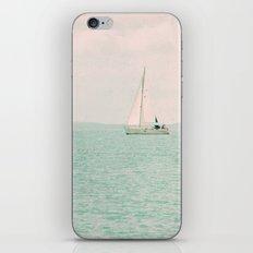 white ship iPhone & iPod Skin