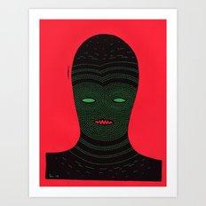 lino man Art Print