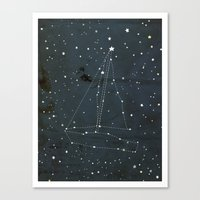 Constellation Sail Boat Canvas Print