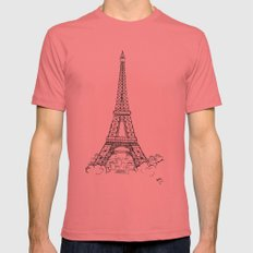 EIFFEL TOWER Mens Fitted Tee Pomegranate SMALL