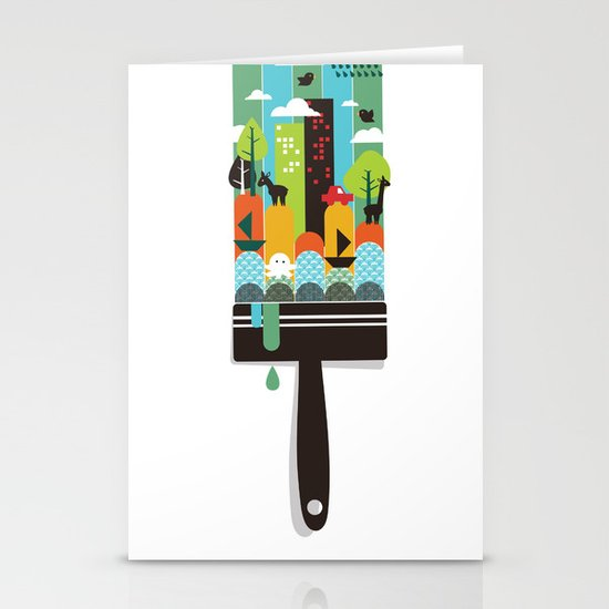Paint your world Stationery Card