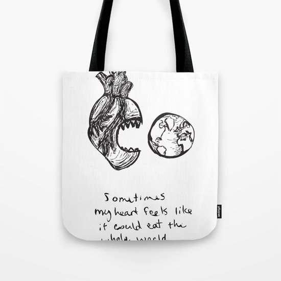 for the heart-hungry Tote Bag