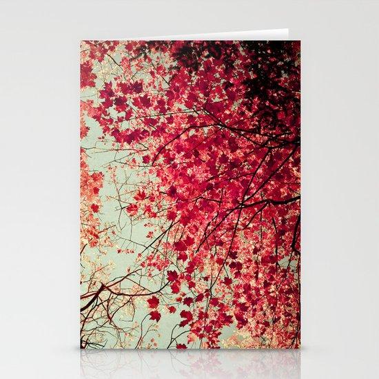 Autumn Inkblot Stationery Card