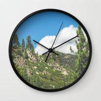 Lake Tahoe Mountains Wall Clock