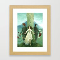 Framed Art Print featuring Both Sides Now by Ellaine