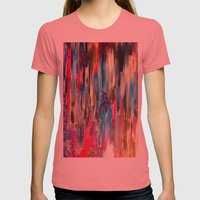 Passing Me By Womens Fitted Tee Pomegranate SMALL